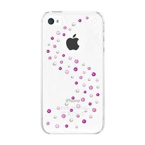 Muvit BMTMWIP4KMIX Coque Swarovski Elts Milkyway Cristallée pour iPhone 4 / 4S Blanc/Rose