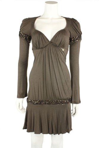 41kQdqlYX L Miss Sixty Womens Maple VNeck Banded Sequin Evening