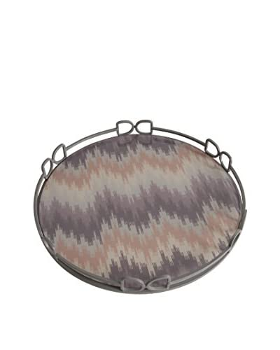Donny Osmond Home 18 Tray, Silver/Purple/Tan