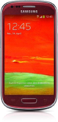 Samsung I8200 S3 Mini Ve Unlocked Cell Phone - Retail Packaging - Marble White (Garnet Red)