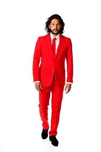 OppoSuits OSUI-0014 Red Devil, Costume da Carnevale, da Uomo, Colore Rosso (Rot), Taglia EU 52 (UK/US 42)