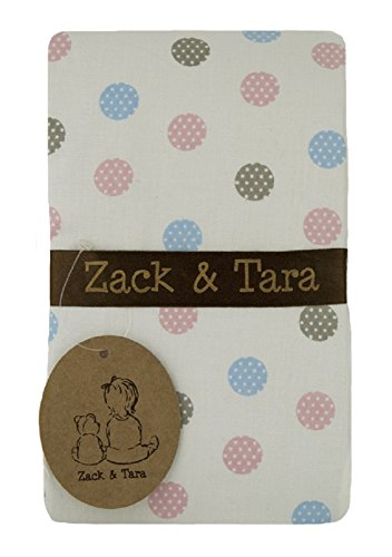 Zack & Tara Change Pad Cover - Pretty Polkas