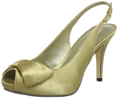 MENBUR Savoia 5177, Sandali col tacco donna, Oro (Gold (Champagne 45)), 36