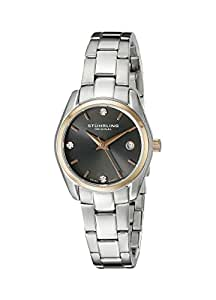 "Stuhrling Original Women's 414L.04 ""Classic Ascot"" Swarovski Crystal-Accented Stainless Steel Watch"