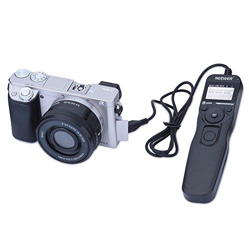 Neewer - LCD Telecomando Digitale con Timer per Scatto Remoto per Fotocamera SONY Alpha A7r, A7, A6000, A3000, SLT-A58, NEX-3NL, DSC-HX300, DSC-RX100M3, DSC-RX100M2, DSC-RX100III, DSC-RX100II