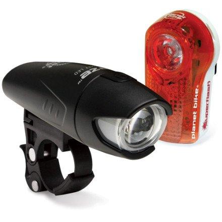 Planet Bike 3040 Superflash Tail Light and Blaze Headlight Light Set