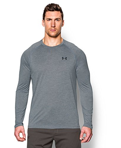 Under Armour Men's Tech Patterned Long Sleeve T-Shirt, Steel (035), XX-Large