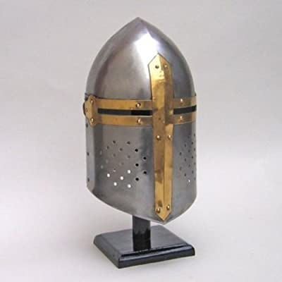Medieval Crusader Great Helm Knight Armor Helmet Larp, Replica