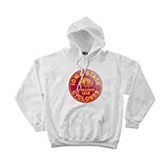 NCAA Iowa State Cyclones 50 50 Blended 8-Ounce Vintage Circle Hooded Sweatshirt,... by SDI