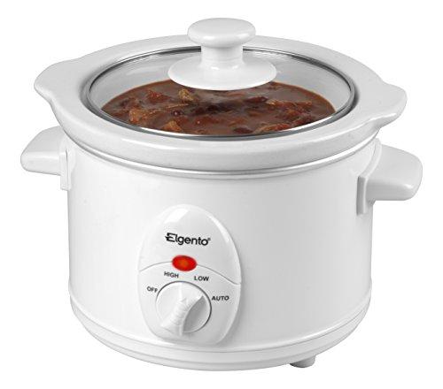 Elgento E16001 Slow Cooker, 120 W, 1.5 Litre, White