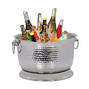 Artisan Stainless Steel Hand Hammered Insulated Beverage Tub (17 Qt.)