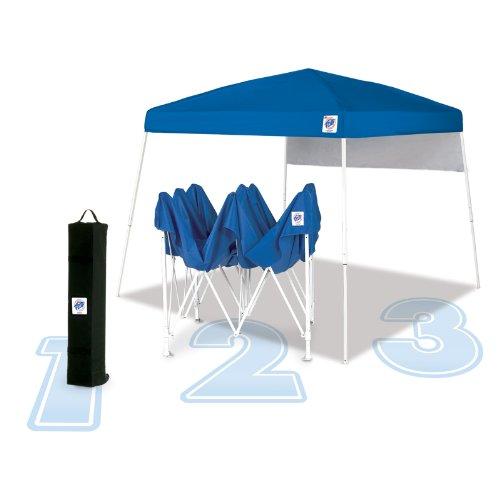 E-Z UP Dome, 10x10, Royal Blue Top w/ White Frame