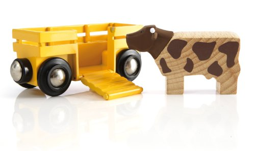 33406 Cow And Wagon Bri-33406 7312350334067 By Brio