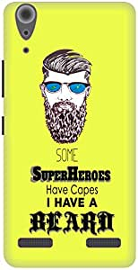 The Racoon Lean Super Beard hard plastic printed back case for Lenovo A6000