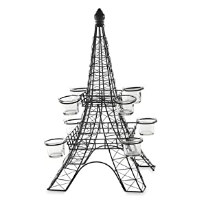 Metal 20 Eiffel Tower Black Centerpiece With