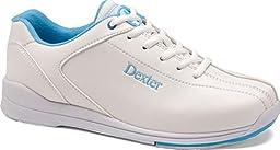 Dexter Junior Raquel IV Bowling Shoes, White/Sky Blue, Size 2