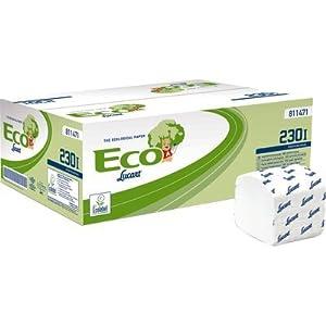 Carta igienica interfogliata Lucart Carta ecologica 2 veli 230 strappi 811471 (conf.40)