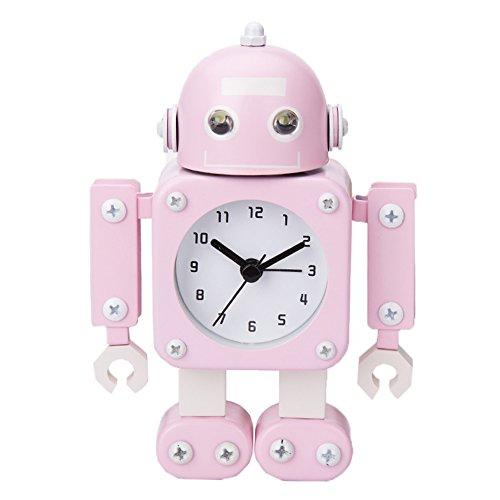 Robot Horloge Movable chevet alarme horloge analogique yeux šŠtincelants Et Son C