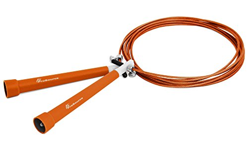 Prosource Skipping Speed Cable Jump Rope For Crossfit, Super Fast, 10' Feet Fully Adjustable - Choose Your Color