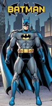 Batman In The City Beach Towel