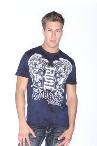 Red Chapter Clothing Mens Faith Hope Ambigram Shirt Blue Size: 3XL