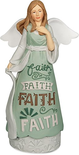 Angelstar 74012 Faith Artisan Angel Figurine, 5-1/2