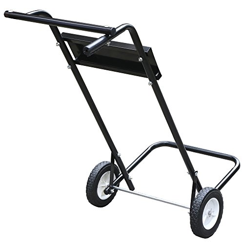 Yaheetech 85 Lb 15hp Outboard Boat Small Motor and Engine Stand Steel Carrier Cart Dolly