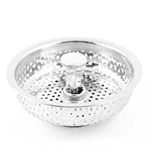 Water wood stainless steel mesh hole sink drain stopper - Amazon kitchen sink stopper ...