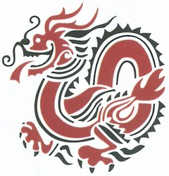 Delta Rubber Stampede Rubber Stamp, Chinese Dragon
