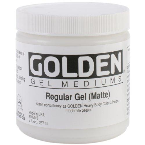 Golden Regular Gel Matte, 8-Ounce