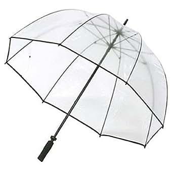 Clear Golf Bubble Dome Umbrella Black Trim