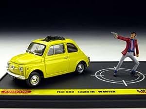 Amazon.com: III [BRUMM / Blum] 1/43 Fiat 500F Lupin WANTED