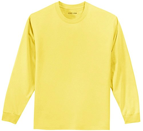 Joe'S Usa Youth Long Sleeve Heavyweight Cotton T-Shirts In 16 Colors back-114070