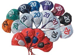 Sprint Water Polo Cap Set #2-13 Maroon with White Numbers