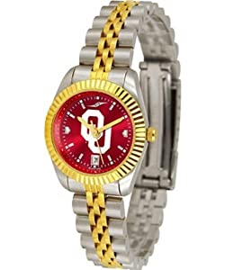University of Oklahoma Sooners Ladies Gold Dress Watch by SunTime