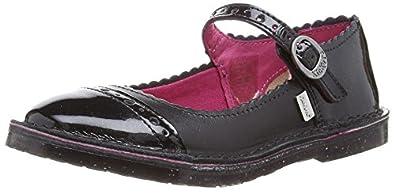 Kickers Girls Adlar Brogue Mary Jane Flats 112852 Black 1 UK, 33 EU