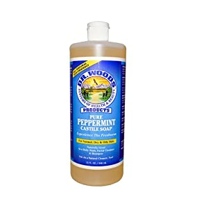 Dr Woods Castile Soap Pure Peppermint 32 oz