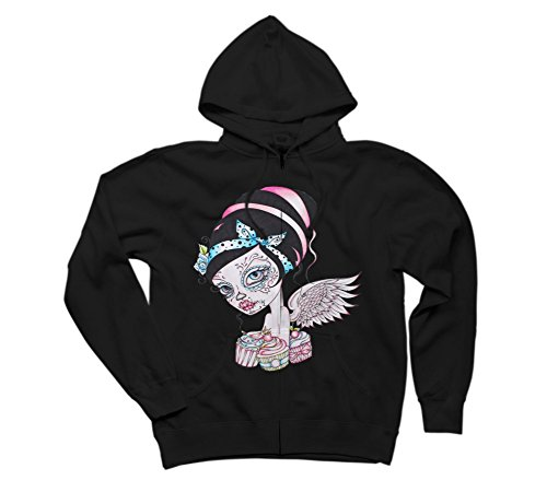 Cupcake Cutie - Day of the Dead Girl Men's Graphic Zip Hoodie
