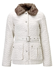 Star Quilted Belted Coat with Stormwear™