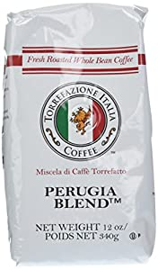 Torrefazione Italia Coffee, Perugia Blend, Whole Bean, 12-Ounce Bags (Pack of 2)