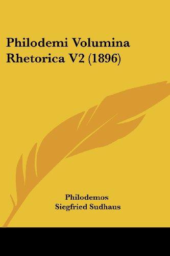 Philodemi Volumina Rhetorica V2 (1896)