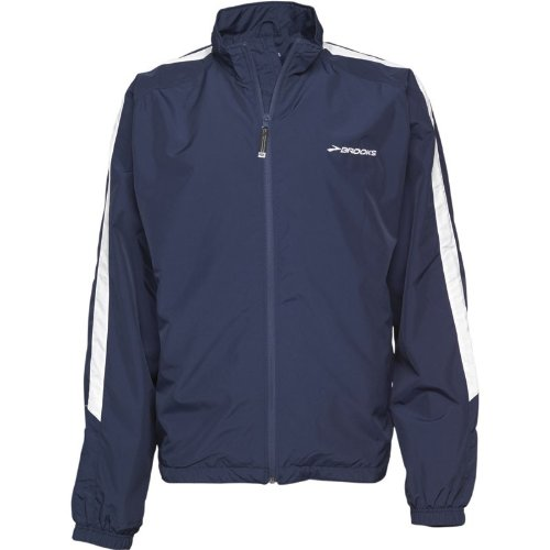 Brooks Mens Team Podium Jacket Navy