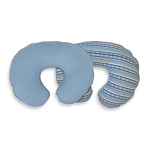 Boppy Slipcover Luxe Blue Stars and Stripe Nursing Pillow - 1
