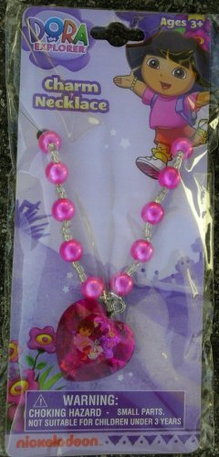 Dora the Explorer Pink Pearl and Pendant Necklace - 1