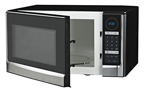 Westinghouse WCM14110SS 1100 Watt Counter Top Microwave Oven, 1.4 Cubic Feet, Stainless Steel Front, Black Cabinet