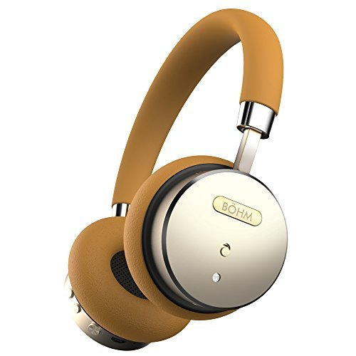bohm bluetooth wireless headphones gold tan