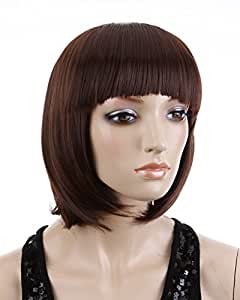 Cool2day Cute Girl's Short BOBO Wigs Party Straight Wigs JF010021 (Dark Brown)