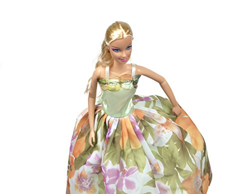 Banana Kong Vivid Flowers Dolls' Princess Dress,2 Pieces