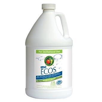 Earth Friendly Products Proline PL9756/04 ECOS Lemongrass Scented Liquid Laundry Detergent, 1 gallon Bottles (Case of 4)