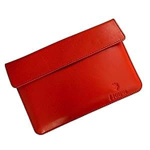 i-KitPit : Genuine Leather Pouch Case For Videocon VT75C (ORANGE)